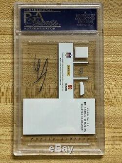 2012 Panini Elite Russell Wilson Rookie Card RC AUTO PSA 10 Gem Mint