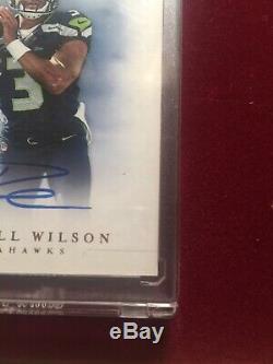 2012 Panini Prime Signatures Russell Wilson Rookie Auto Seahawks Sp #/199 Rc