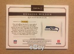 2012 Panini Prime Signatures Russell Wilson Rookie RC Patch Auto 18/25 Seahawks