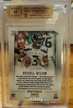 2012 Panini Prizm Autograph #230 Russell Wilson 151/250 BGS 9.5 Gem Mint 10 Auto