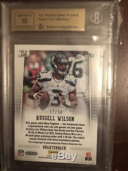 2012 Panini Prizm Refractor Russell Wilson Auto RC /99 BGS 9.5 10 Gem Mint