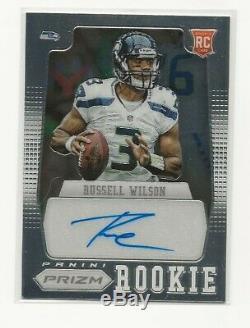 2012 Panini Prizm Russell Wilson Rookie Auto Seattle Seahawks /250