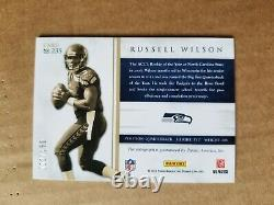 2012 Panini Prominence Russell Wilson Letter Patch Auto! 2/150! RC Seahawks