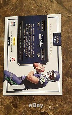 2012 Panini Prominence rookie NICE PATCH Russell Wilson auto /150