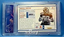 2012 Panini RUSSELL WILSON Rookie AUTO RC Prestige NFL Pass PSA 10 RARE