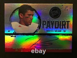 2012 Press Pass Paydirt Russell Wilson Seahawks RC Rookie Auto /50