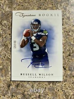 2012 Prime Signatures Football Hobby Box Russell Wilson RC auto