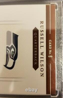 2012 Prime Signatures Russell Wilson 3 Clr Patch On Card Auto Rc #'d 96/99 Mvp