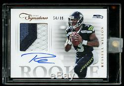 2012 Prime Signatures Russell Wilson 3 Color Patch AUTO #D /99 RC Encased