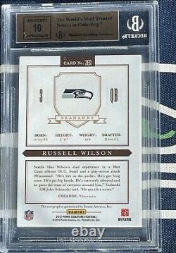 2012 Prime Signatures Russell Wilson Rookie Auto BGS 9.5 10 AUTOGRAPH #/199