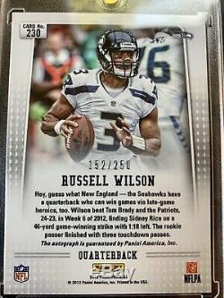 2012 Prizm Russell Wilson Rookie Auto /250