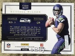 2012 Prominence Russell Wilson RC Auto Rookie Player Worn Material /150 Seahawks
