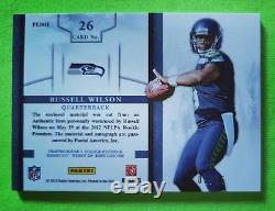 2012 Prominence Russell Wilson ROOKIE PRIME Patch Auto 03/15 Jersey # 1/1