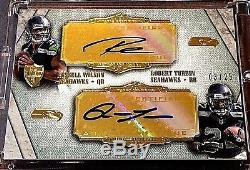 2012 RUSSELL WILSON Rookie Auto 3/25 GOLD Supreme SEAHAWKS RC Jersey # 3 1/1