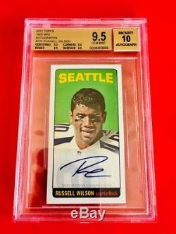 2012 RUSSELL WILSON Seahawks RARE 1965 Mini Autographs ROOKIE AUTO Tall Boy 1/1
