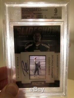 2012 Rookies & Stars Premiere Slide Show Russell Wilson Auto RC BGS 9 # 41/50