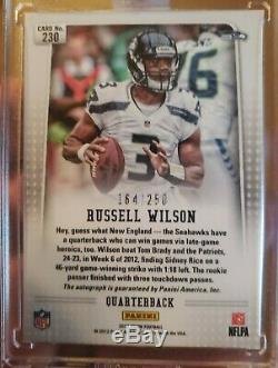 2012 Russell Wilson Auto Autograph Prizm Rookie RC 164/250 Seattle Seahawks HOT