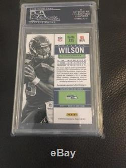 2012 Russell Wilson Auto Rc PSA 10 Panini Contenders Blue Jersey