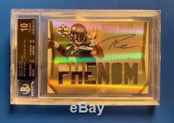 2012 Russell Wilson Black Label 1/1 ROOKIE BGS AUTO 10 Jersey # 3/25