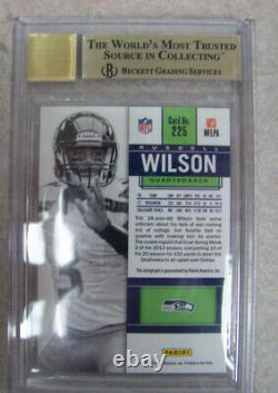 2012 Russell Wilson Contenders Rookie Auto White Variation #225 Bgs 9.5