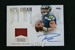 2012 Russell Wilson National Treasures Rookie NFL Gear Auto Rare HTF # 8/25