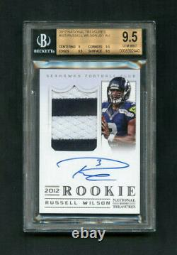 2012 Russell Wilson National Treasures Rookie RC Patch /99 BGS 9.5 /9 Auto
