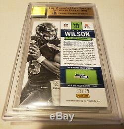 2012 Russell Wilson Panini Contenders Playoff Ticket Auto BGS 9.5 #'d 92/99 #225