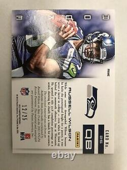 2012 Russell Wilson Panini Limited Auto Jumbo Patch RC Autograph /25 Prime Ssp