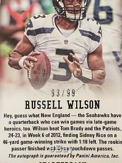 2012 Russell Wilson Panini Prizm ROOKIE Prizm Auto /99 PSA