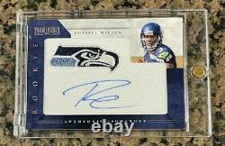 2012 Russell Wilson Panini Prominence ON CARD Auto RC Team Logo Patch RPA # /150