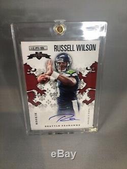 2012 Russell Wilson Panini Rookies & Stars Crusade RC Auto 136/199