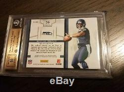 2012 Russell Wilson Prime Jersey Prominence Rookie Auto Autograph BGS 9.5 #15/15