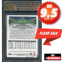 2012 Russell Wilson RC Auto Topps Chrome Refractor BGS 9.5 Gem Mint #/178