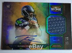 2012 Russell Wilson Rc Auto Signed Topps Triple Threads 57/75