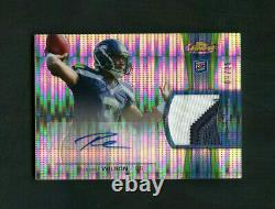 2012 Russell Wilson Topps Finest Pulsar Refractor RC Patch Auto /25 See Note