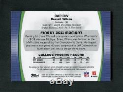 2012 Russell Wilson Topps Finest Refractor Rookie RC Patch Auto /99