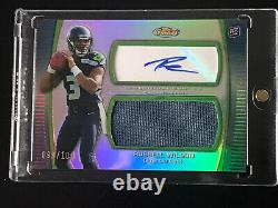2012 Russell Wilson Topps Finest Rookie Patch Auto 99/100