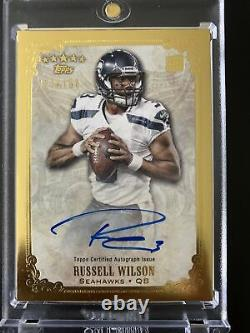 2012 Russell Wilson Topps Five Star Gold RC Auto Numbered 124/150 MVP! RARE