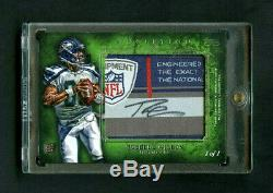 2012 Russell Wilson Topps Inception Rookie RC NFL Equipment Jumbo Patch Auto 1/1