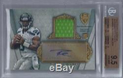 2012 Russell Wilson Topps Supreme Auto Relic RC- BGS 9.5 with10 auto. #15/51