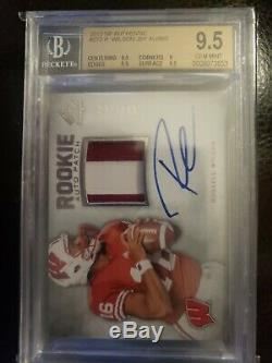 2012 SP Authentic Russell Wilson Patch Auto BGS 9.5 10 Autograph RC