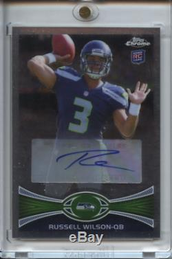 2012 TOPPS CHROME 40 RUSSELL WILSON AUTO Autographed Mint RC Seahawks SP