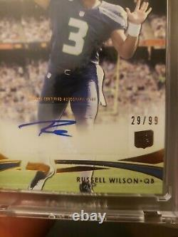 2012 TOPPS PRIME RUSSELL WILSON Rookie Auto RC card #29/99 beautiful card