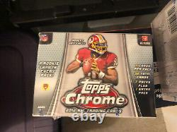 2012 Topps Chrome Football Factory Sealed Blaster Box Russell Wilson RC Yr Auto