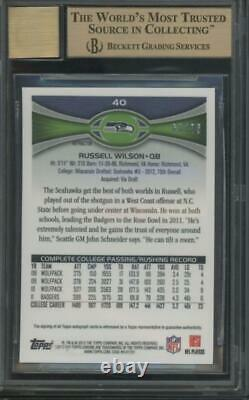 2012 Topps Chrome Pink Refractor Russell Wilson /75 RC Gem Mint BGS 9.5 10 Auto