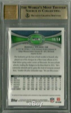 2012 Topps Chrome Prism Auto Russell Wilson RC /50 BGS 9.5/10 (One of One)