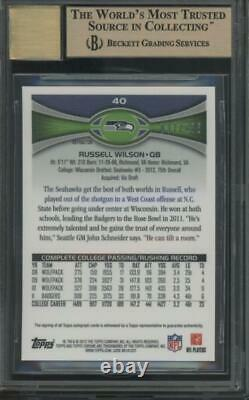 2012 Topps Chrome Refractor Russell Wilson 37/178 RC Gem Mint BGS 9.5 10 Auto
