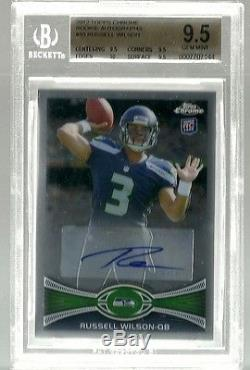 2012 Topps Chrome Rookie Auto Russell Wilson Rc Bgs 9.5 10 Gem Mint