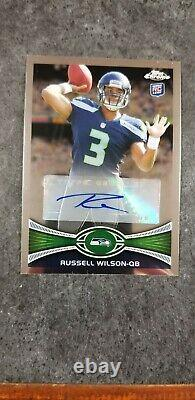 2012 Topps Chrome Russell Wilson #40 Auto Rookie RC Signature Autograph SP