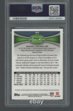 2012 Topps Chrome Russell Wilson #40 RC Rookie AUTO PSA 10 LOW POP